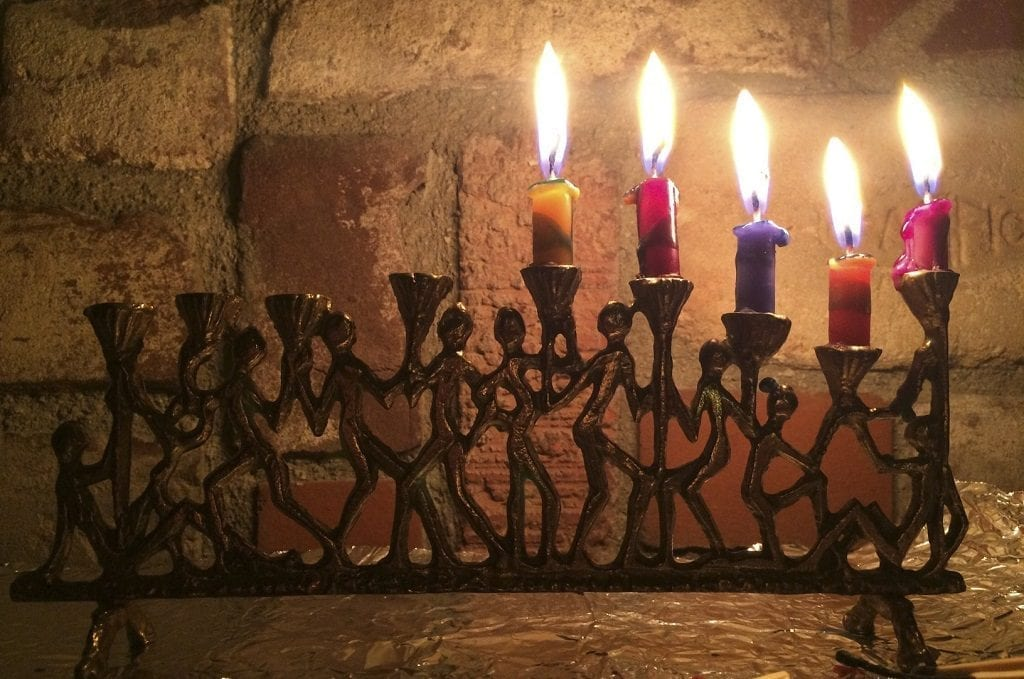 Hanukkiah candelabrum - Chanukah, Israel