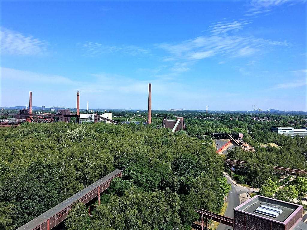 Three chimneys stand testament to the industrial heritage of the Ruhrgebiet