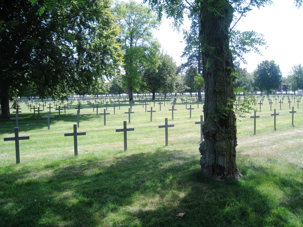 La Maison Blanche German Cemetery credit Irene Caswell