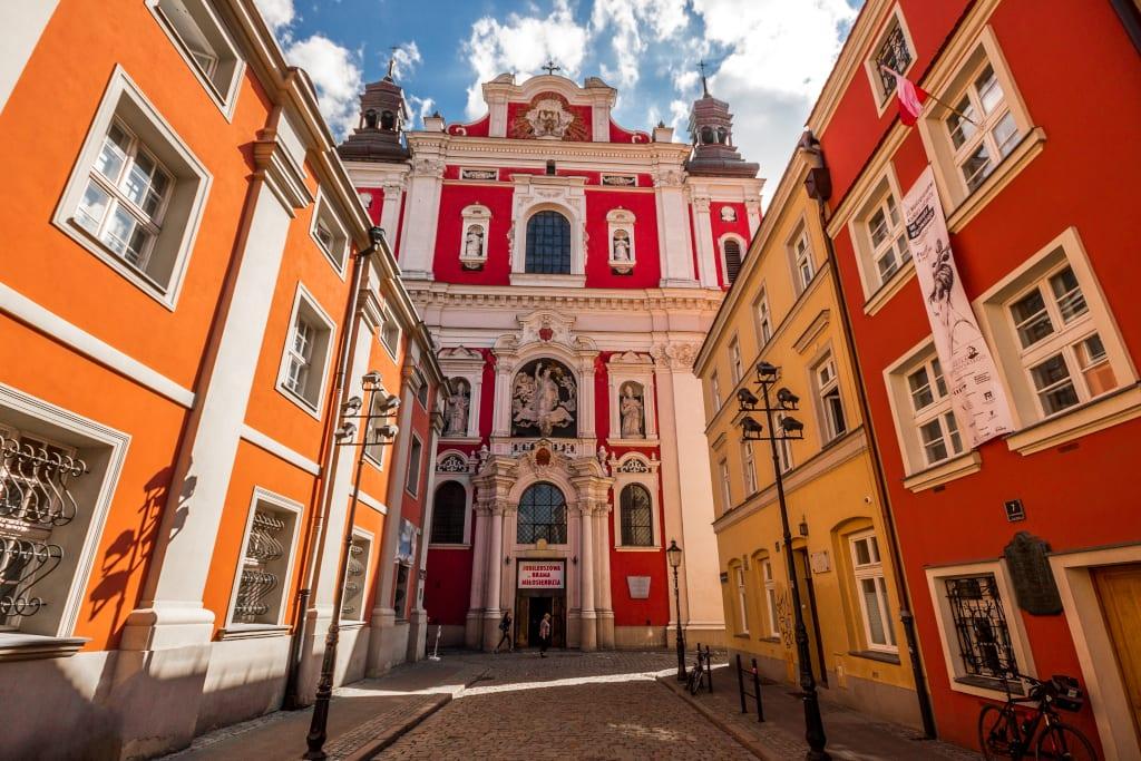 The deceptive Jesuit Church, Poznan Poland