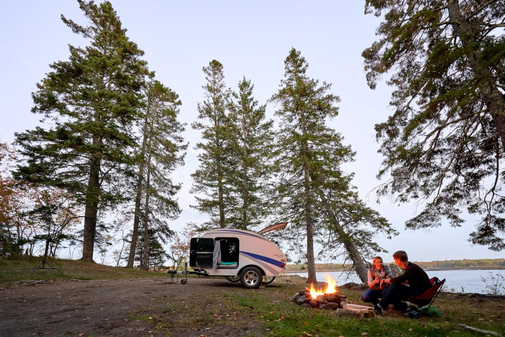 Camping at a Maine State Park
