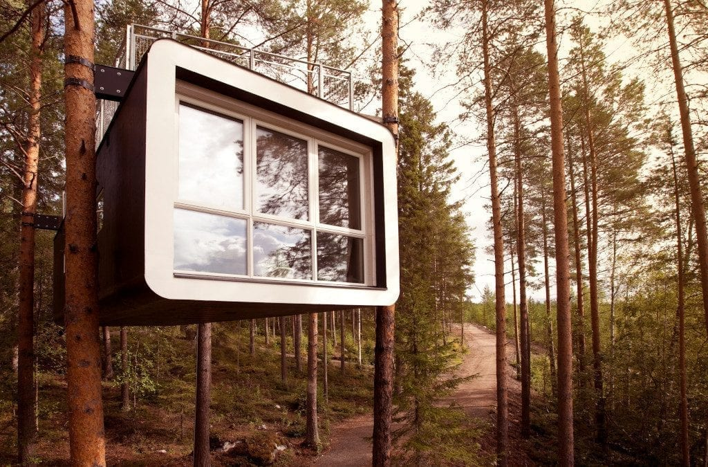 Stay in an Arctic Bath, Tree Hotel or Grotto