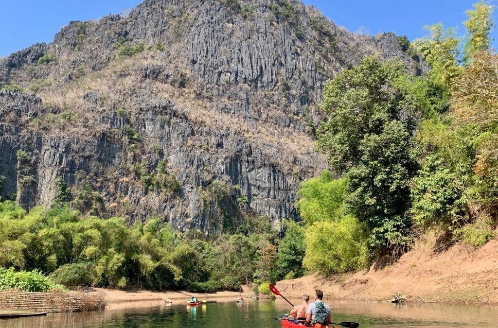 Kayak Down the Hin Boun River in Laos