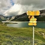 The hiking trails in the Jungfrau Swiss Alps are well marked