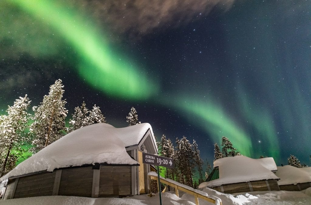 See the Northern Lights Village in Levi
