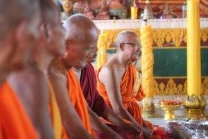 Monks at prayer