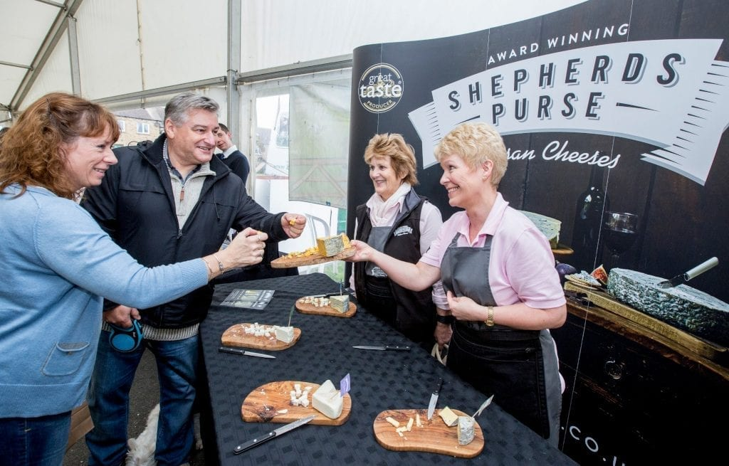 Yorkshire Dales Cheese Festival 2017 Shepherds Purse tasting