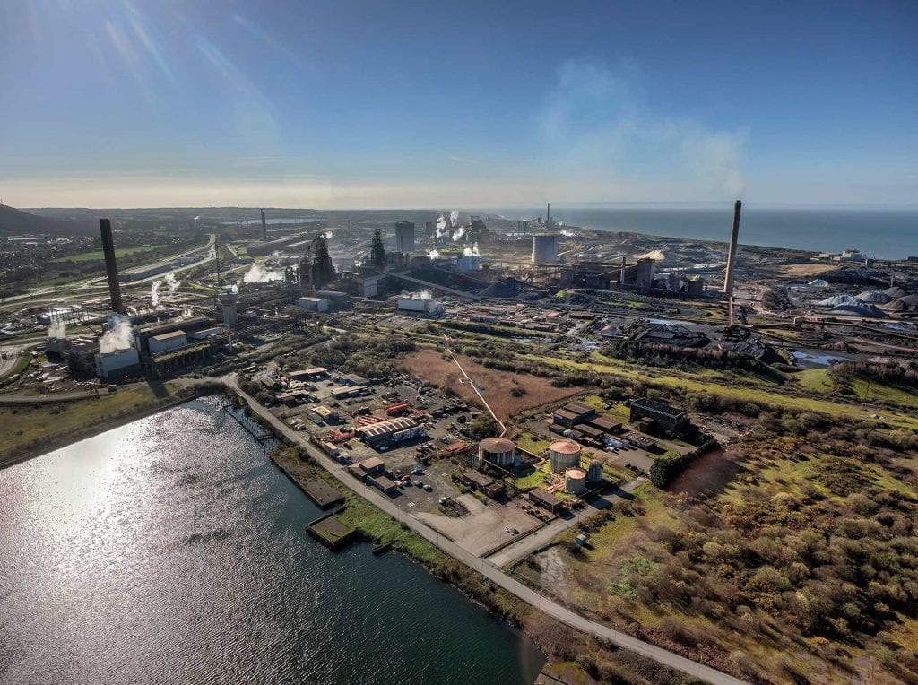 Port Talbot steelworks aviation biofuel