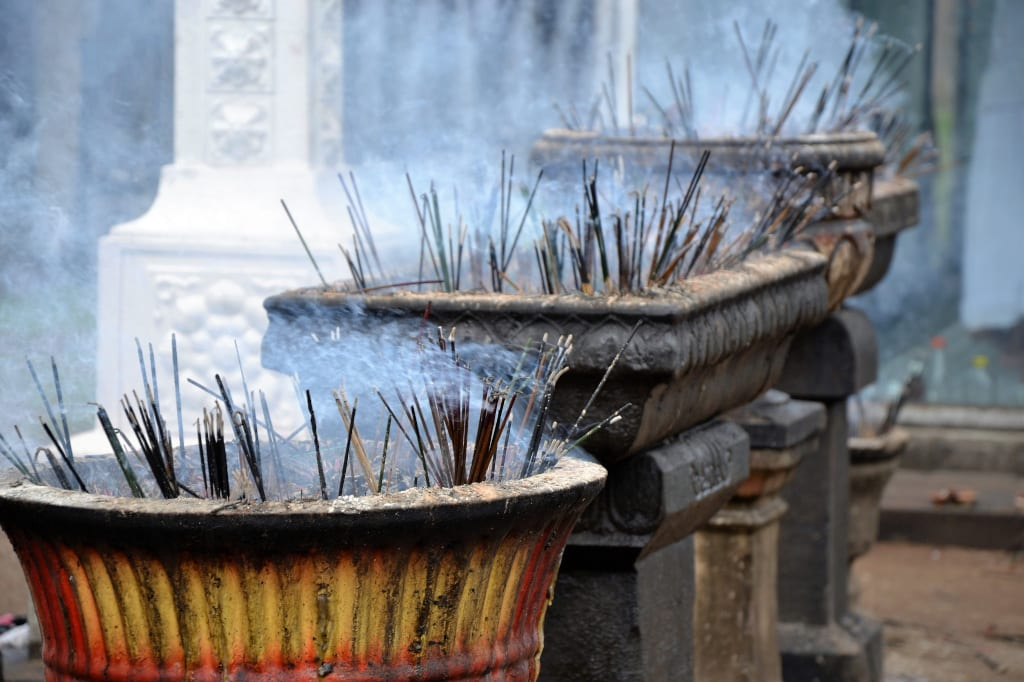 Incense is a key element of the Pchum Ben Festival in Cambodia