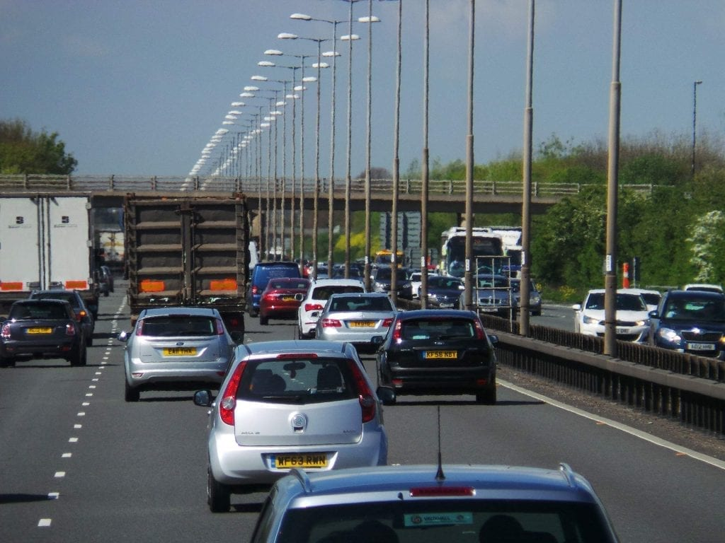 August Bank Holiday Motorway Traffic on the M4