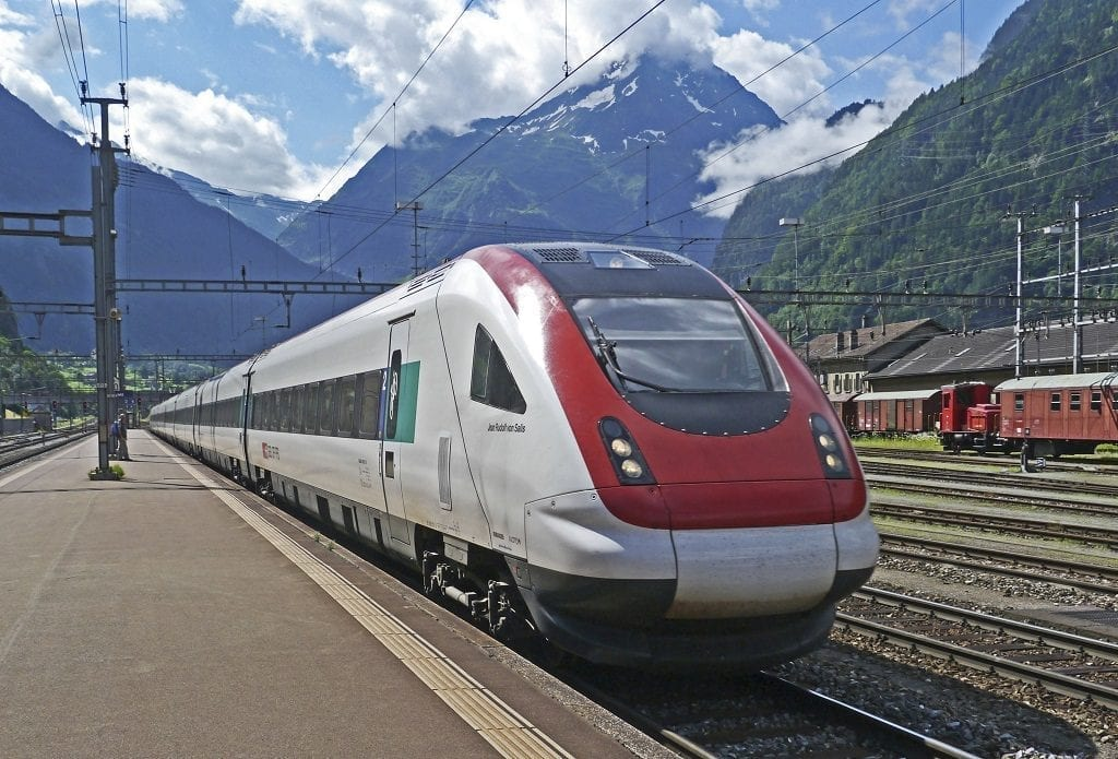 trains vs planes carbon emissions split