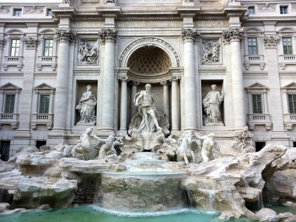 Since the coins thrown in are given to charity, throwing a coin into the Trevi fountain is always good luck for somebody, photo by kittyvanrooij216 / Pixabay License