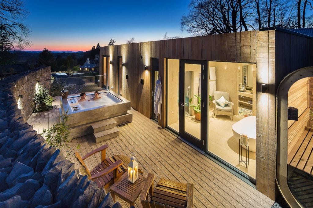 Gilpin Spa Lodge Hot Tub Lake District