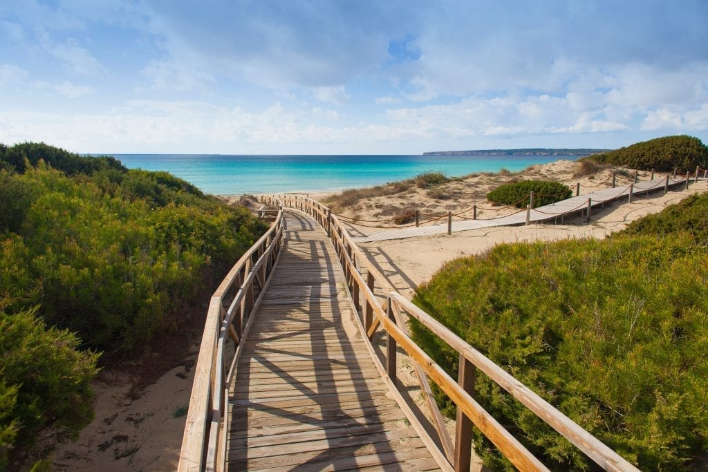 Wooden walkways help preserve Formentera's sand dunes