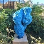 A bashful blue gorilla in Angers