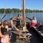 Relaxing on a Loire River Boat trip