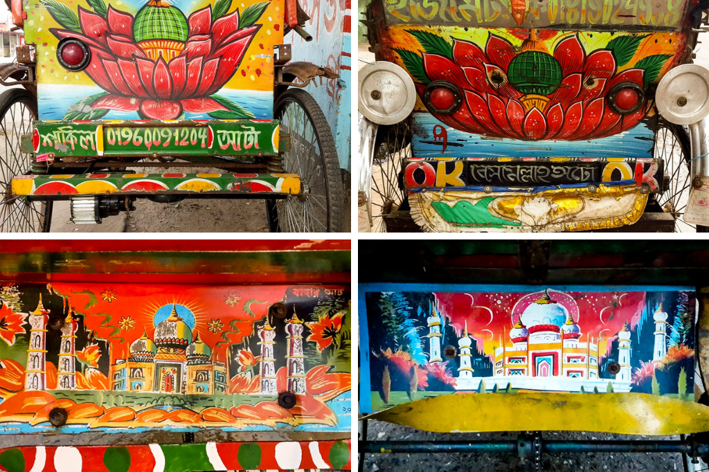Rickshaw art in Bangladesh