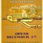 Underground poster announcing the Bakerloo extension to Paddington, opened in 1913.