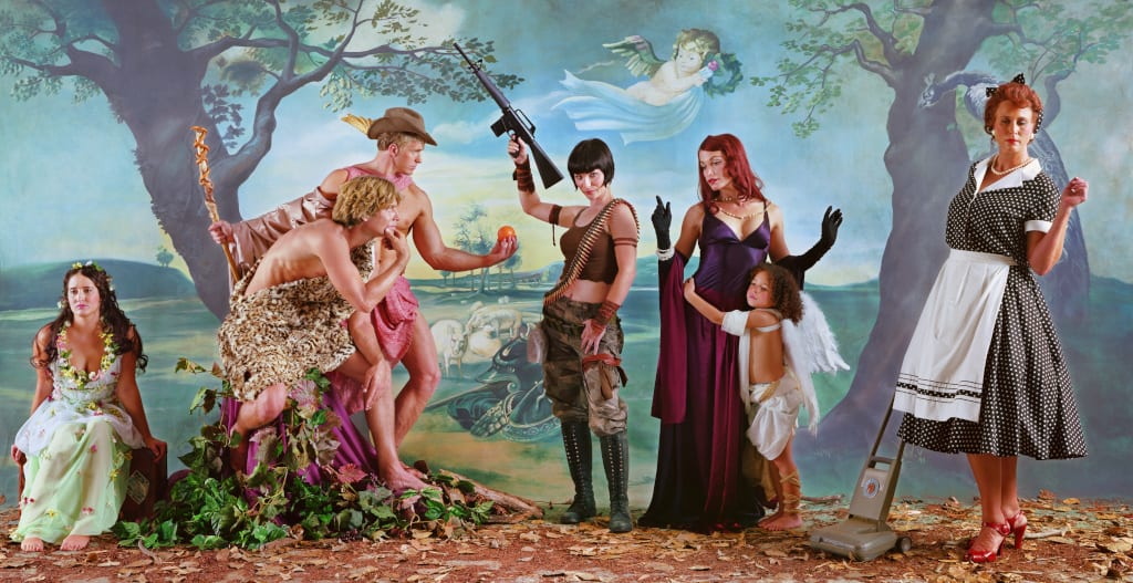 Eleanor Antin Judgement of Paris (after Rubens) - Dark Helen, 2007 chromogenic print 38 x 73 inches (F) edition of 5 Courtesy Ronald Feldman Fine Arts, New York