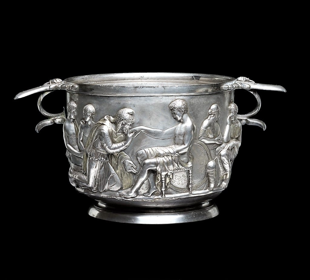 Hoby cup with Priam and Achilles