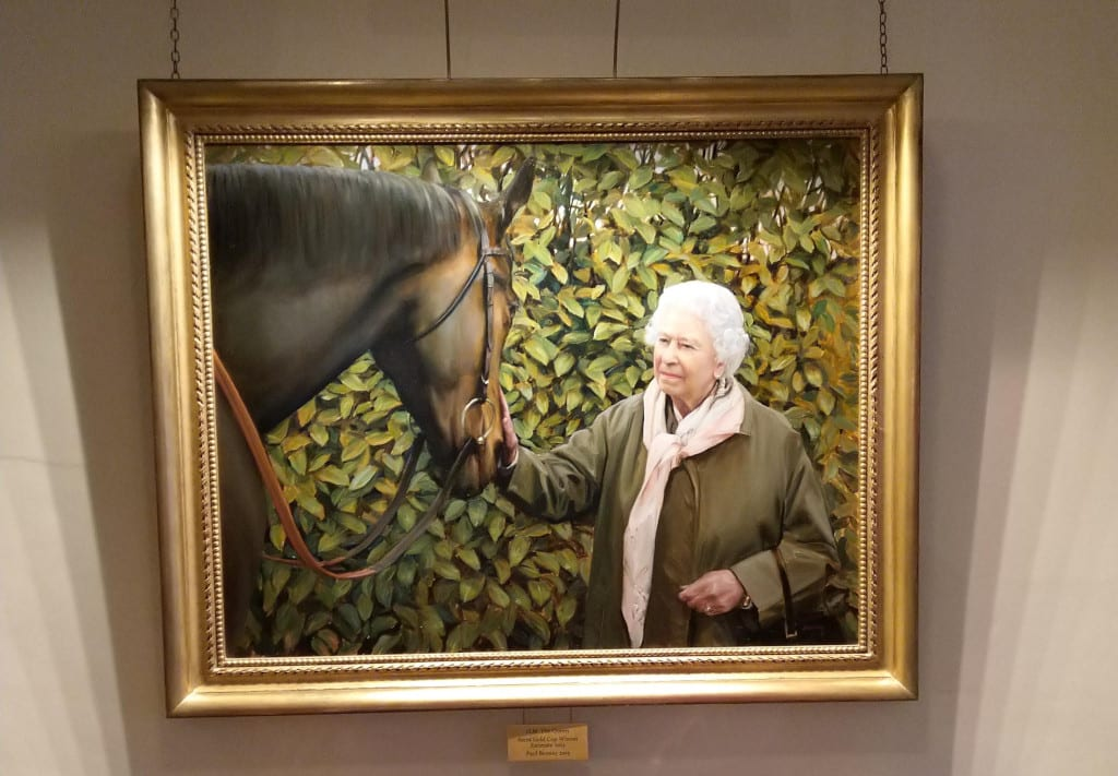 The Queen is noted for her love of horseracing