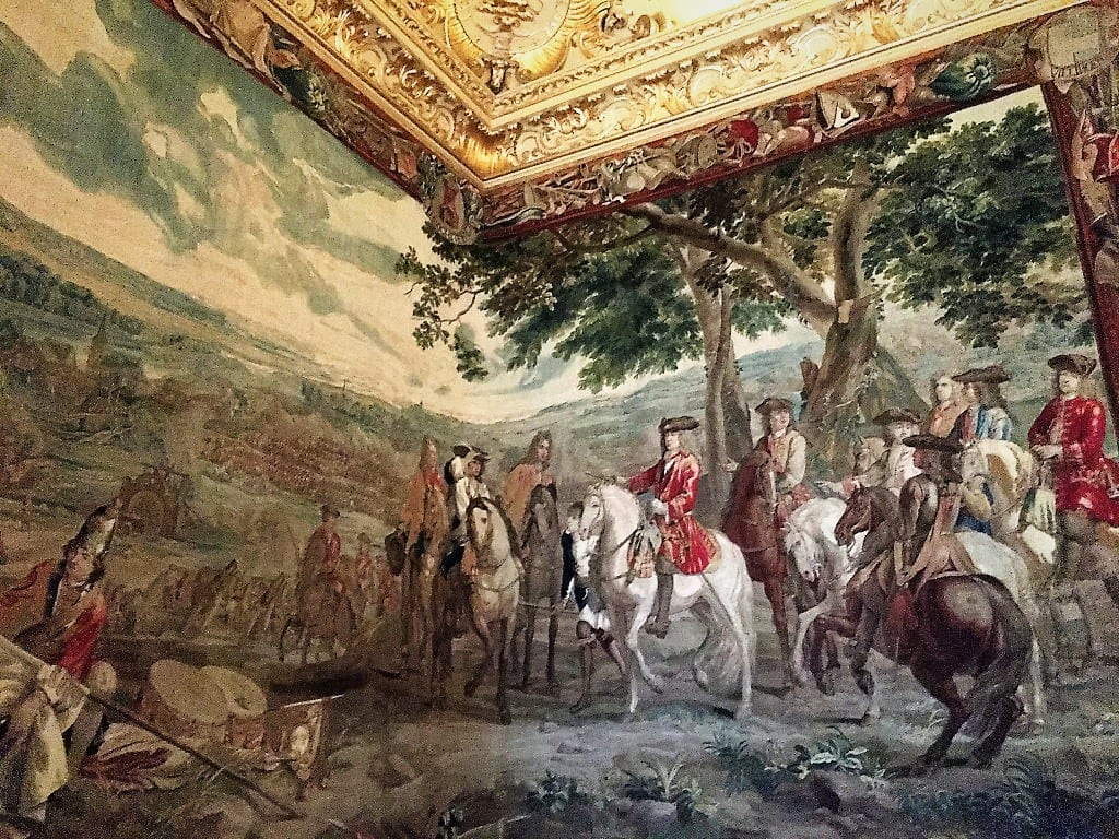An extract from the Marlborough Tapestries