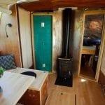 Inside the cabin solar boat
