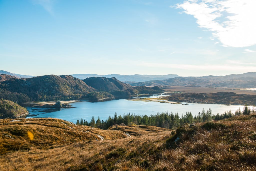 View from top of Eilean Shona by James Bedford