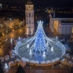 Vilnius Christmas Tree Dazzles the City
