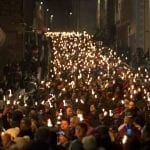 Edinburgh Torchlight Procession, photo David Cheskin.