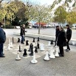 Playing chess by the banks of Lake Geneva