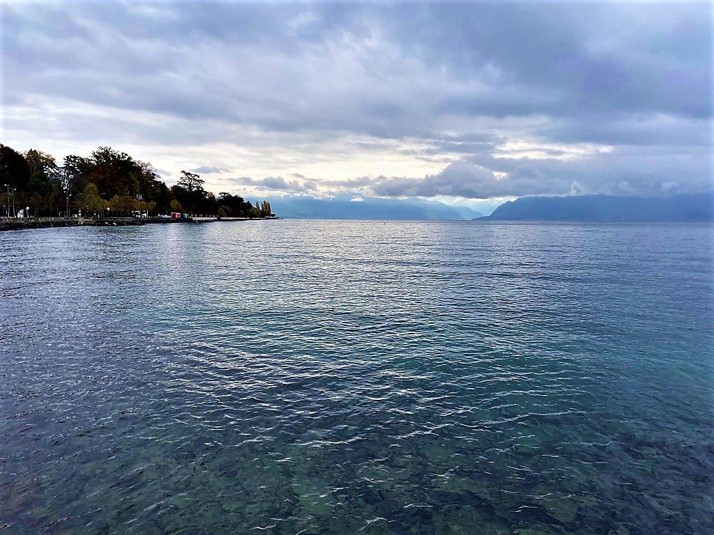 The still waters of Lake Geneva