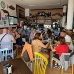 Taking tapas at Bar La Piscina Lanzarote