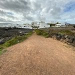 Lanzarote The blissfulness of the long lonely walk.