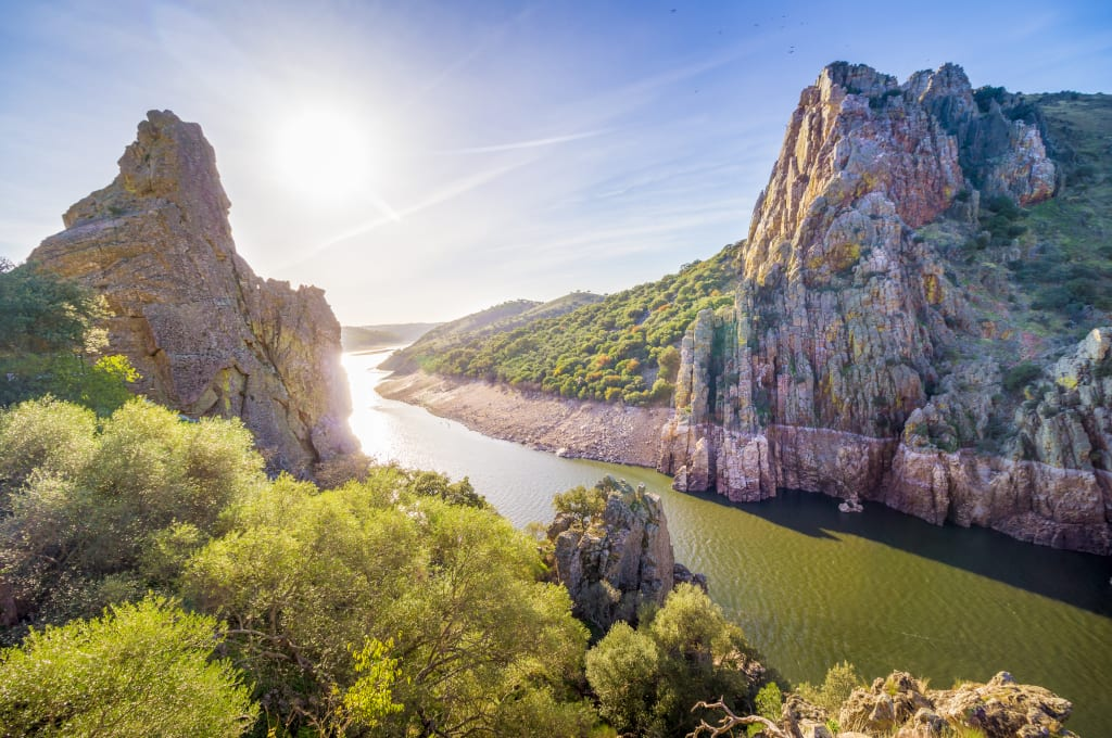 Salto del Gitano, Monfrague National Park, Extremadura, Spain shutterstock_521390404