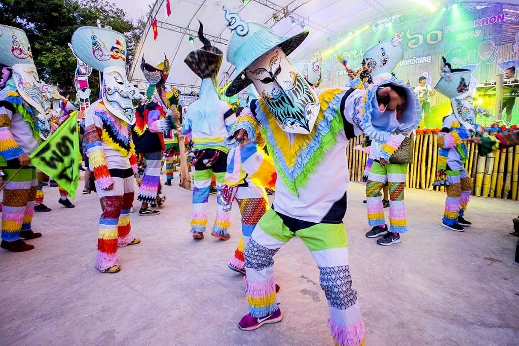 exotic festivals: Phi Ta Khon Festival Thailand