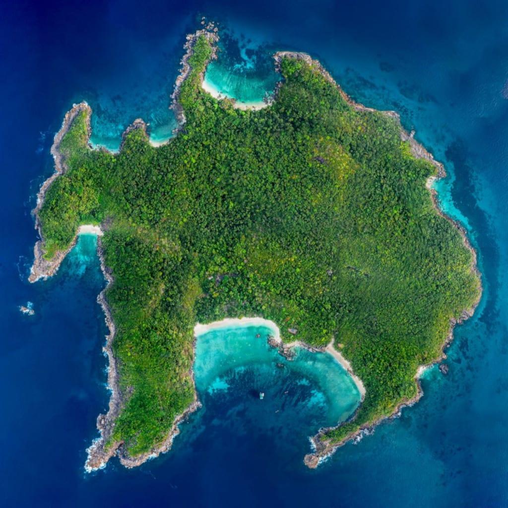 Aerial image of Boulder Island Mergui Archipelago