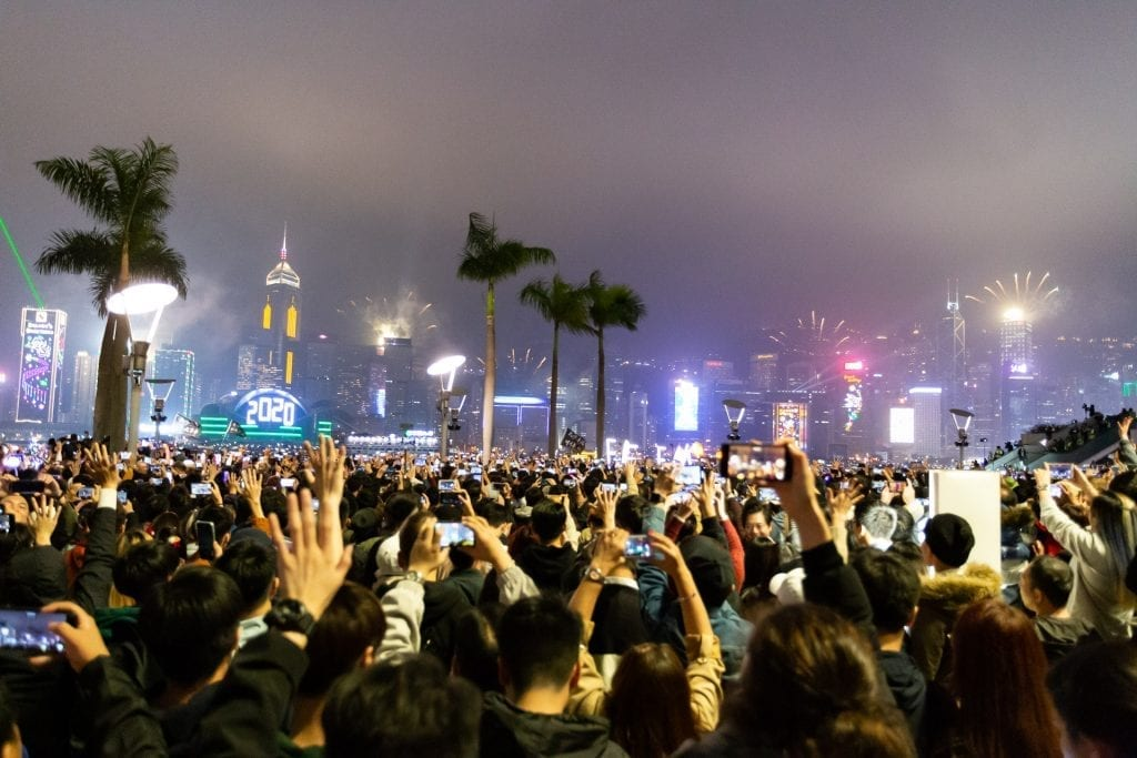 Hong Kong New Year Protests 2020