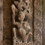 Teak carvings in Mandalay Myanmar