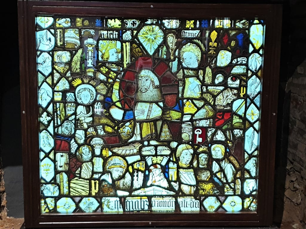Stained glass window from the Abbey in Moyse's Museum
