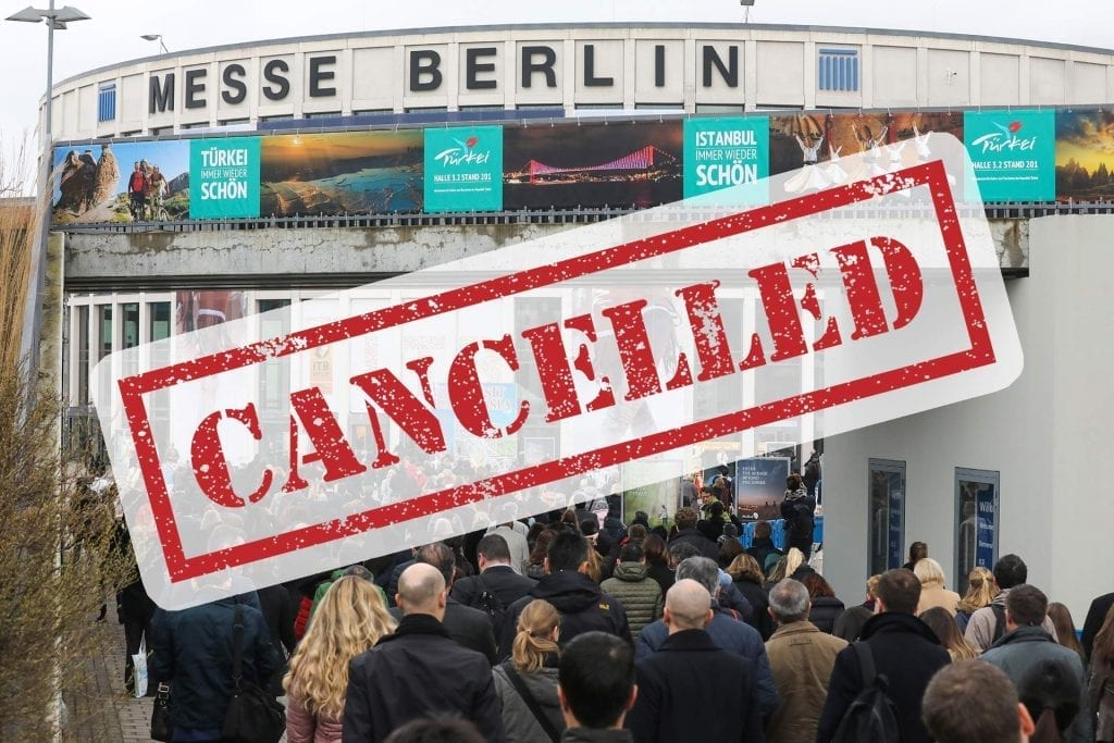 ITB Berlin Cancelled due to coronavirus COVID-19 fears virtual conferences