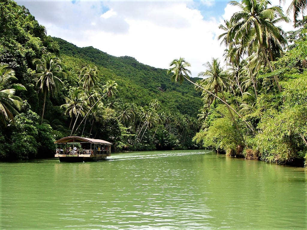 Idyllic crusie along the Loboc River on Bohol island