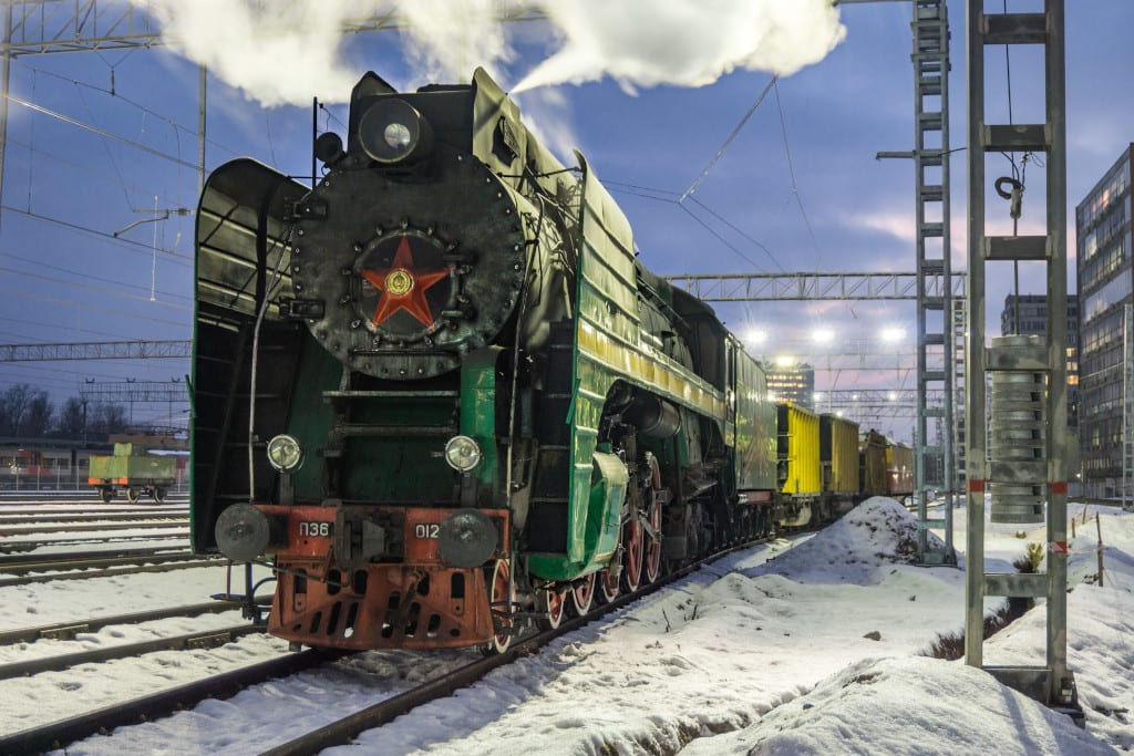 trans Siberian steam train