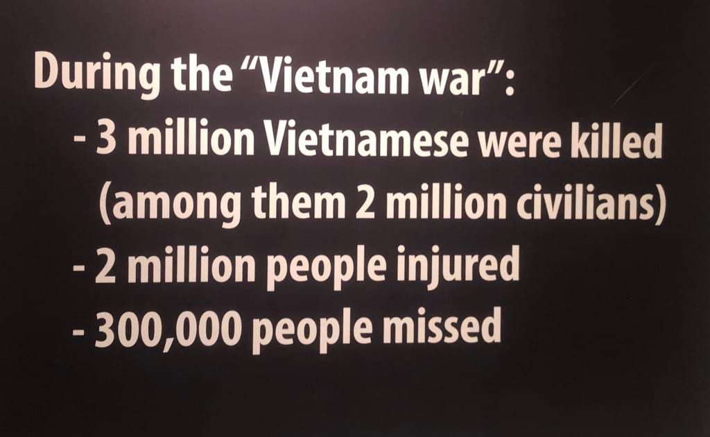 Grim ... the Vietnamese death toll