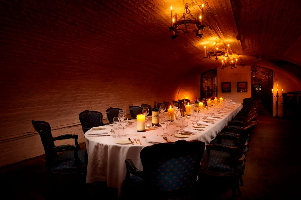 Dining in The Stafford Wine Cellar