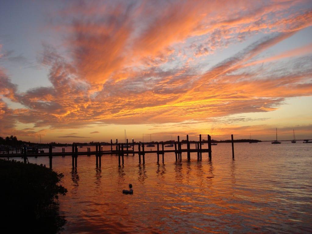Sunset over the Florida Keys
