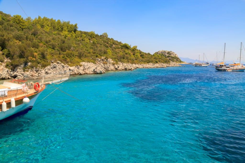 Beautiful blue sea in Marmaris, Turkey