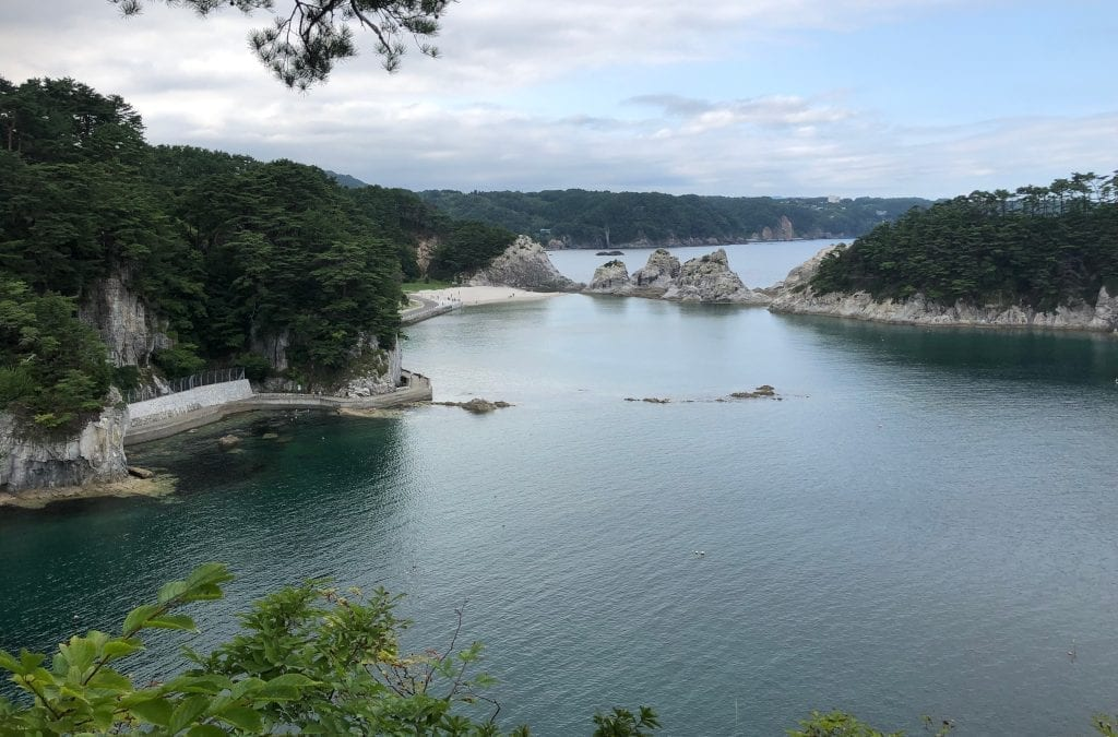 Walking in Japan along the Michinoku Coastal Trail