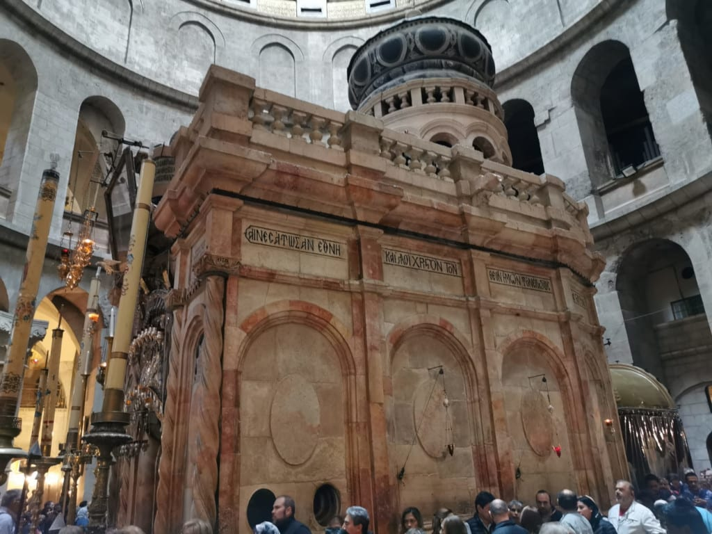 The tomb of Jesus where it is believed he was entombed