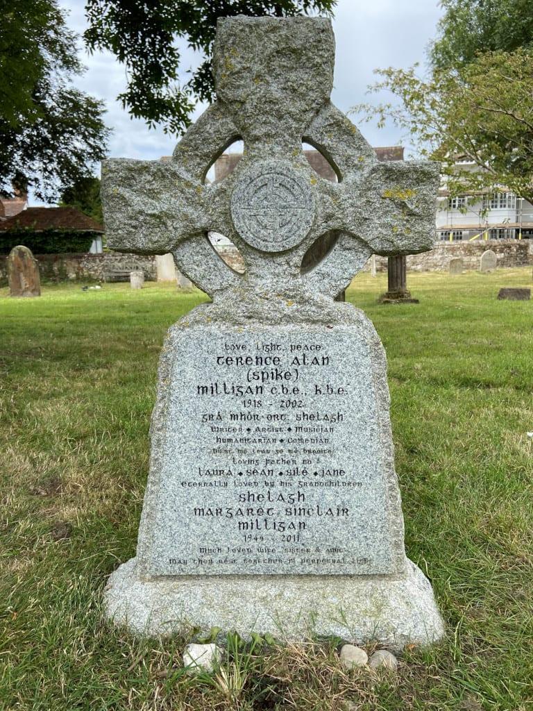 Spike Milligan's gravestone